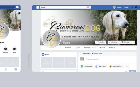 Facebook cover pro Glamorous-dog